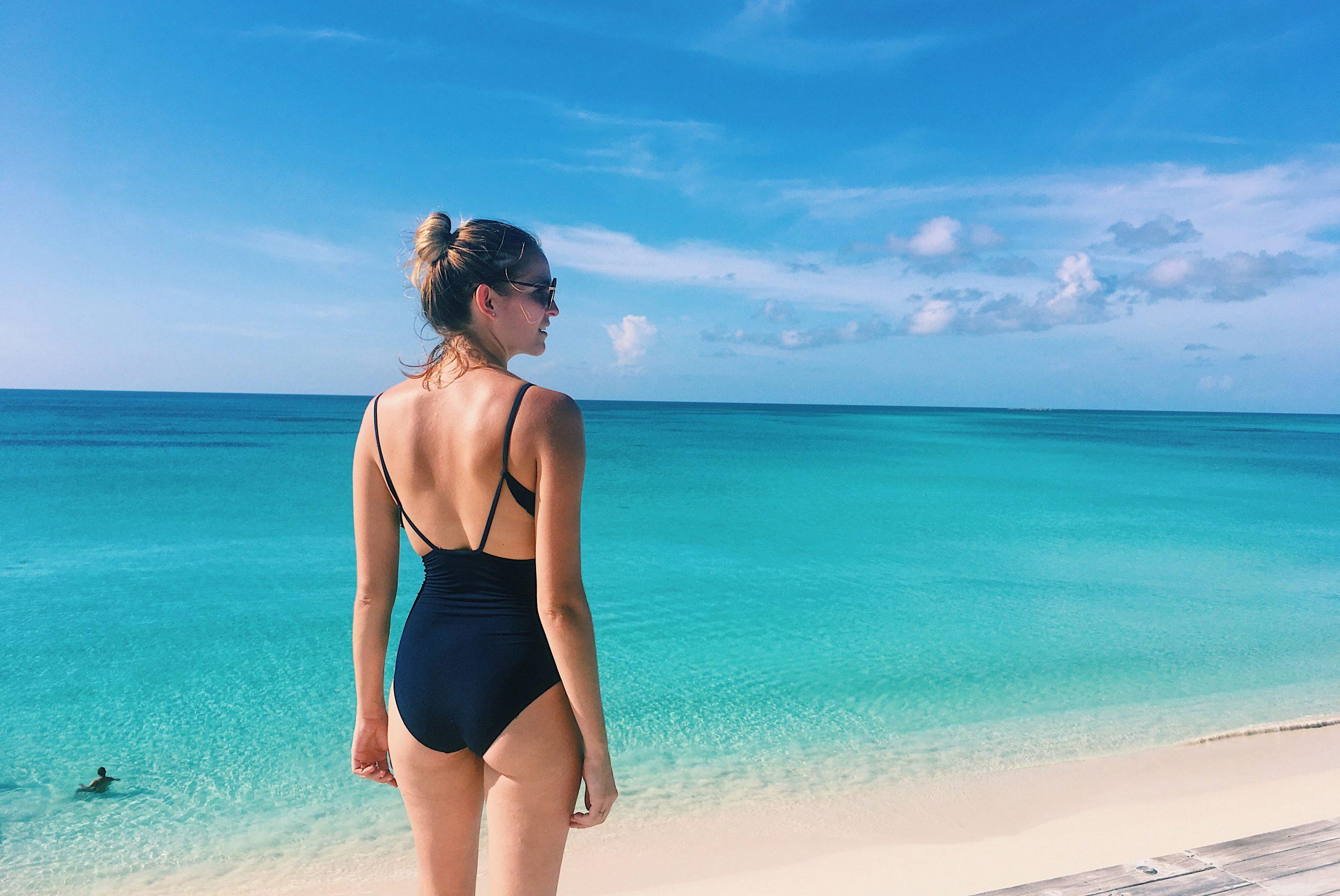Elisa sur Bahamas Ile Rose