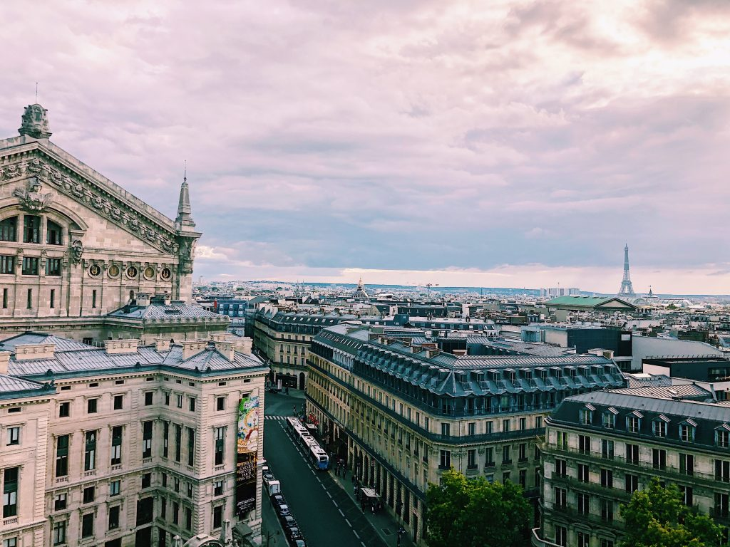 Vue des galeries Lafayette sur Paris