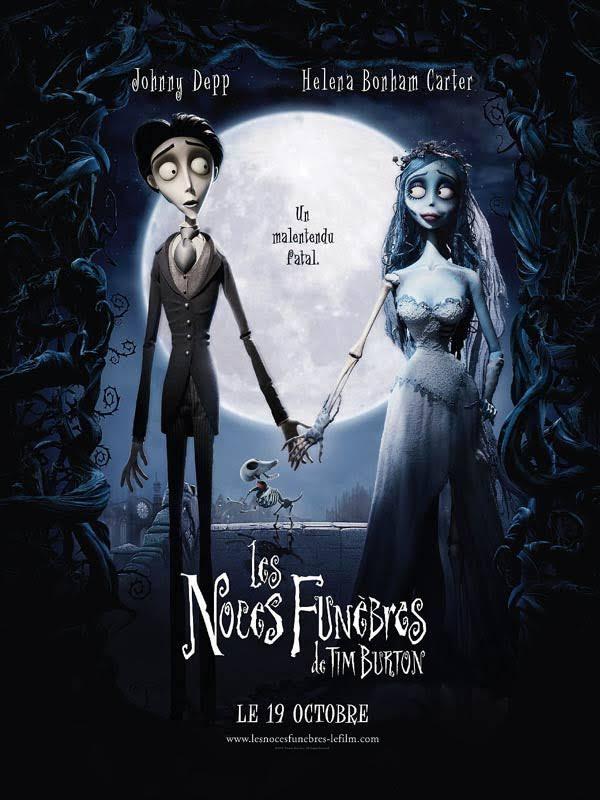 """Affiche du film """"Les noces funèbres"""" de Tim Burton"""